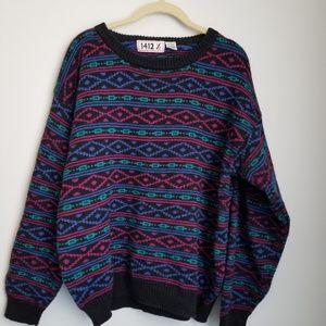 Vintage 80's 1412 1/2 geometric sweater